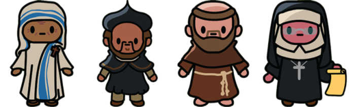 Saints and holy people from the Wanderlight video game.