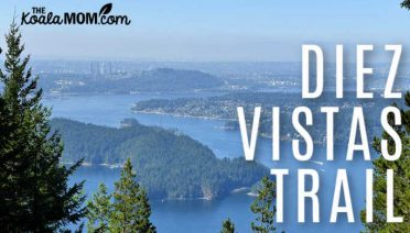 Hiking the Diez Vistas Trail near Port Moody, BC.