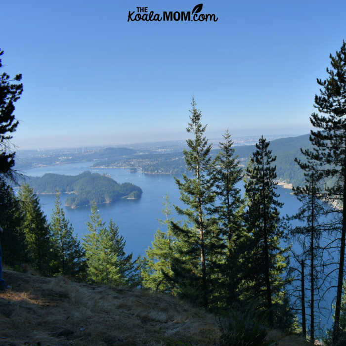 View of Indian Arm from the Diez Vistas Trail.