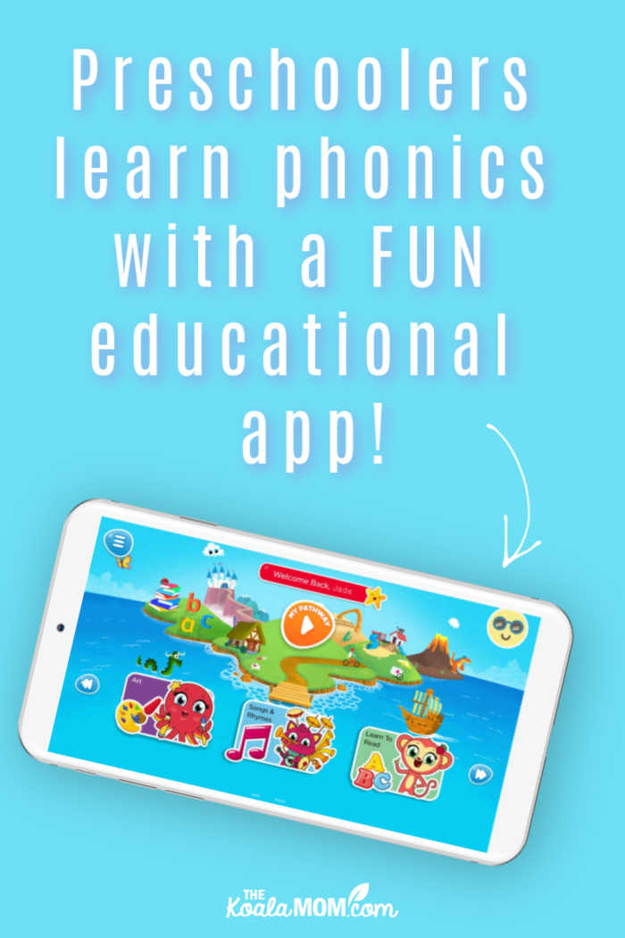Preschoolers learn phonics with a FUN educational app!