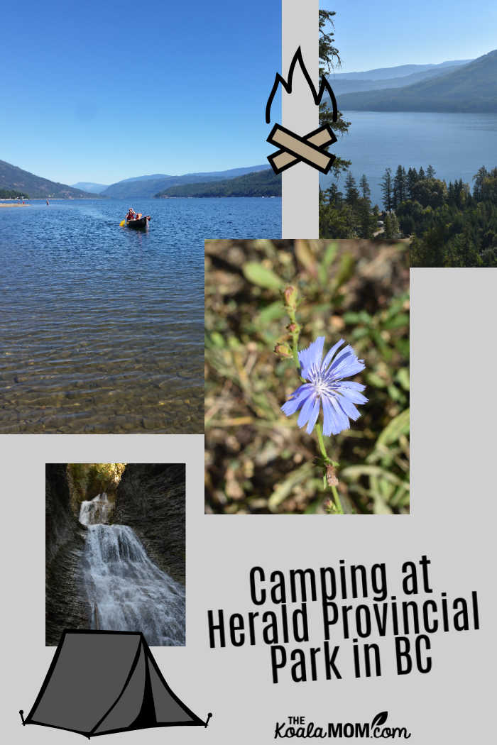 Camping at Herald Provincial Park in BC.