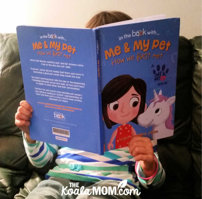 In the Book with... Me and My Pet, a personalized storybook for Jade.