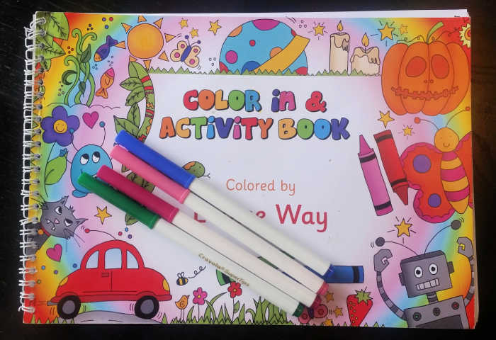 Get a personalized Color In & Activity Book for your child from In the Book!