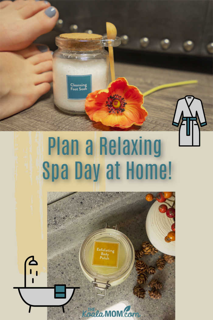 Plan a relaxing spa day at home!