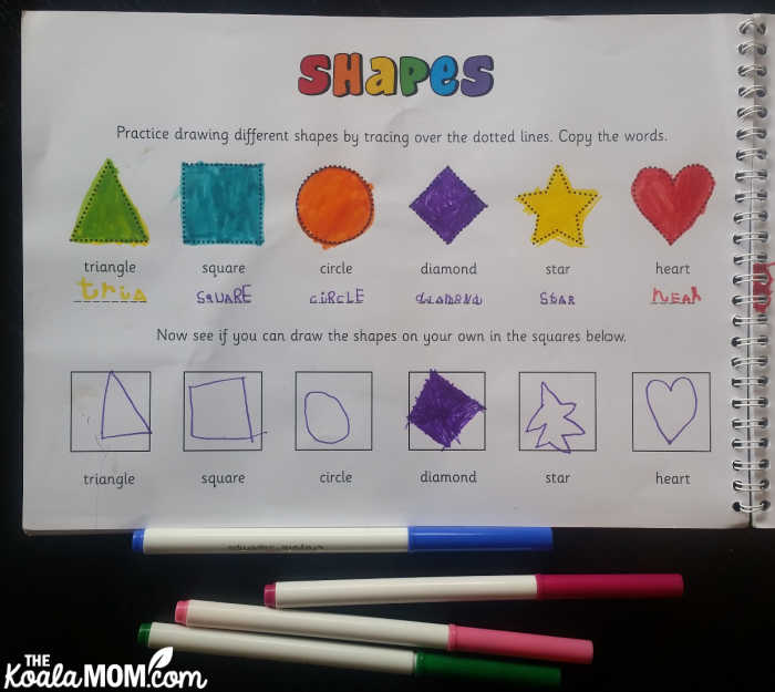Learn about shapes with this personalized colouring book from In the Book.