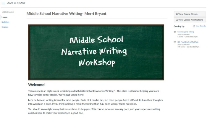 Middle School Narrative Writing Workshop
