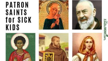 A list of Patron Saints for Sick Kids, including St. Luke, St. Philomena, St. Padre Pio, and more.
