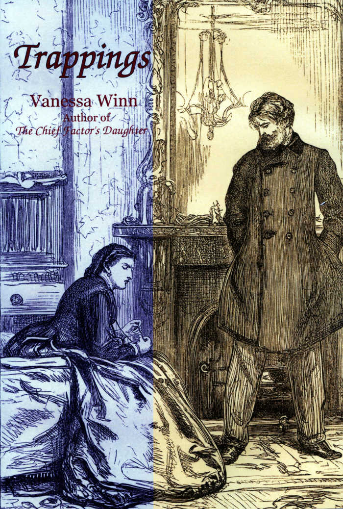 Trappings by Vanessa Winn tells the story of Kate Wentworth Wallace, daughter of HBC Chief Factor John Work, and the loss of her inheritance at Point Ellice House through her husband's bankruptcy.