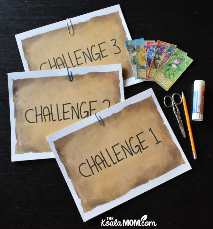 Three escape room challenges, ready for kids to play!
