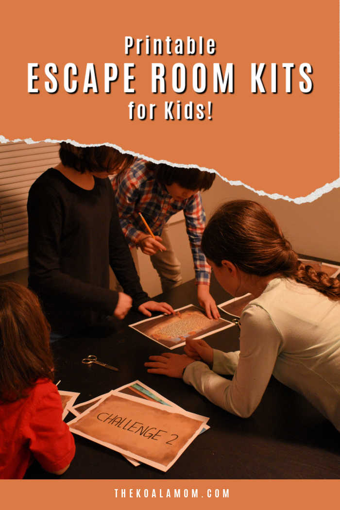 Printable Escape Room kits for kids are tons of fun for family game nights or birthday parties!