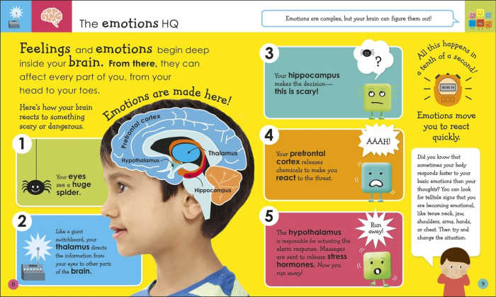 The Emotions HQ: a look inside My Mixed Emotions, a book to help kids handle their feelings better.