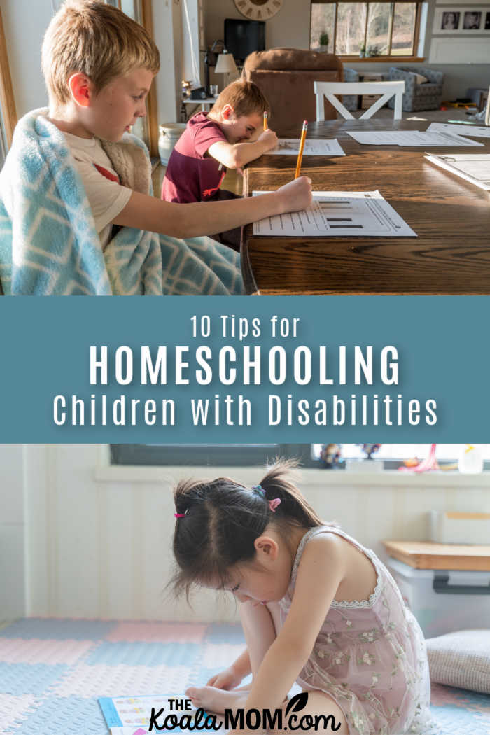 10 Tips for Homeschooling Children with Disabilities