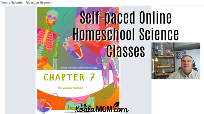 Greg Landry offers self-paced online homeschool science classes, like his Young Scientist Anatomy & Physiology class.