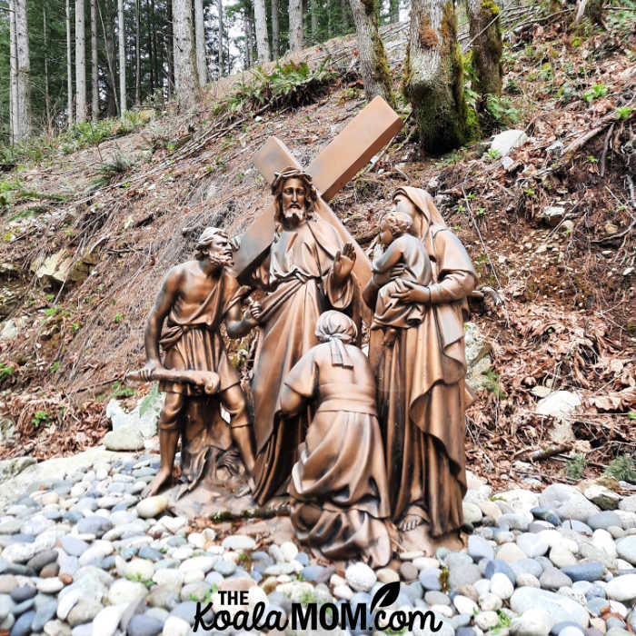The Outdoor Stations of the Cross in Derouche, BC.