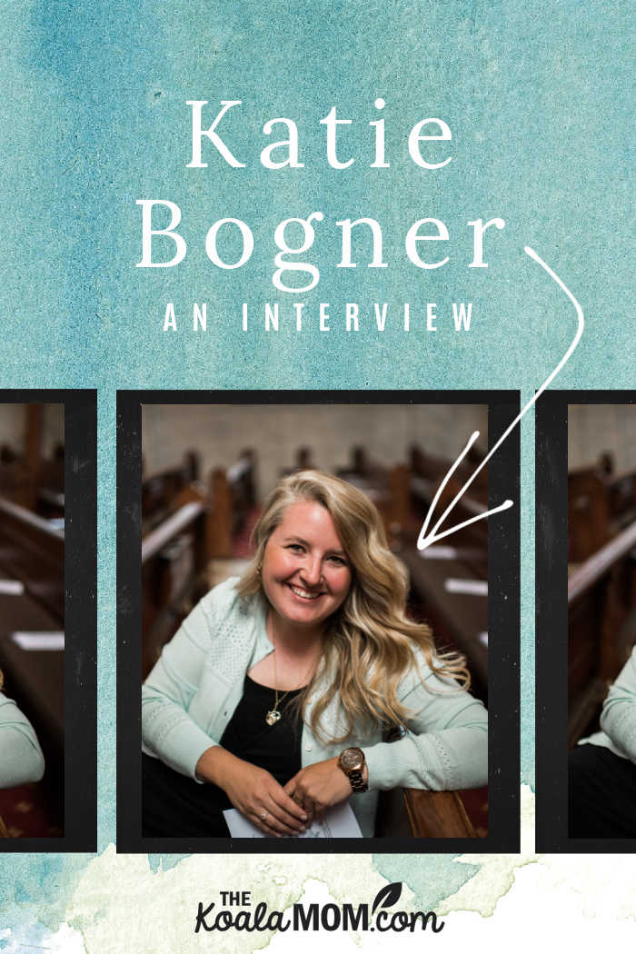 An interview with Katie Bogner, author of Through the Year with Jesus