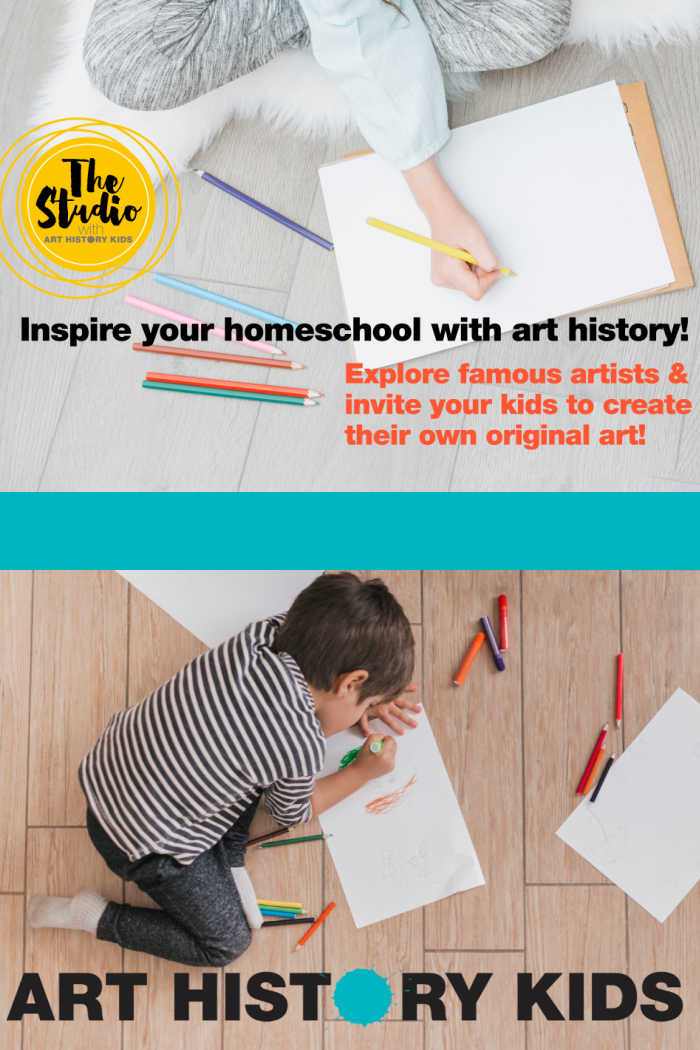 Inspire your homeschool with art history through the Studio at Art History Kids!