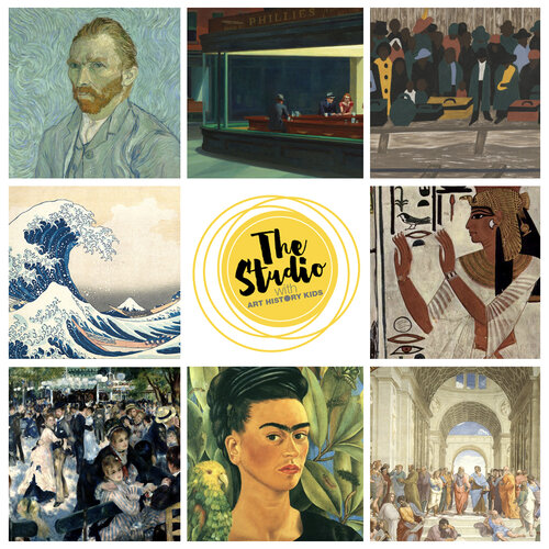 Sign up for the Studio Membership at Art History Kids for tons of art fun!