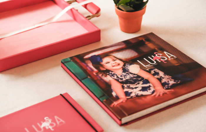 Create a photobook of your child's cutest pictures.