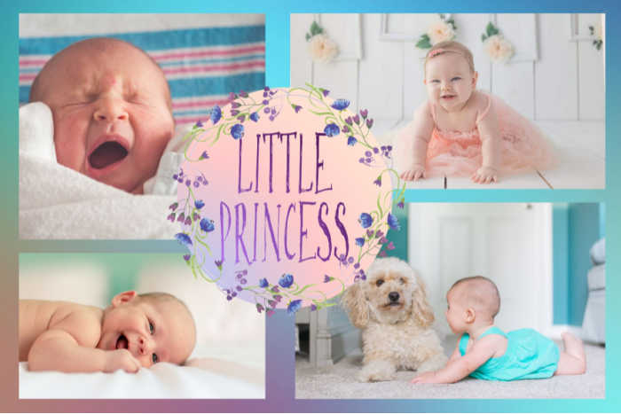 """A pretty collage of a baby girl, titled """"Little Princess."""""""