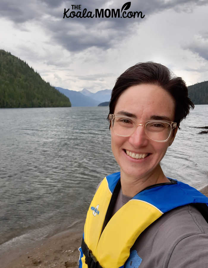 Bonnie Way canoeing on Clearwater Lake.