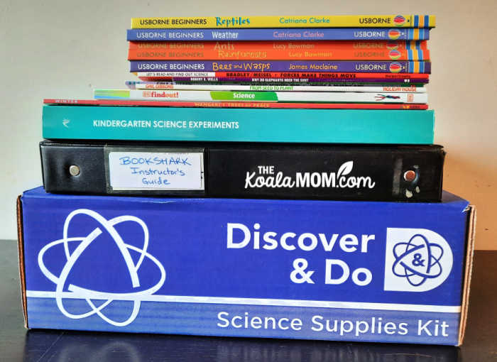 Everything included in the BookShark Science Level A kit.