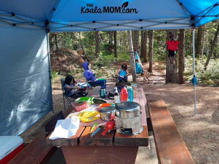 Relaxing at the Falls Creek Campground.