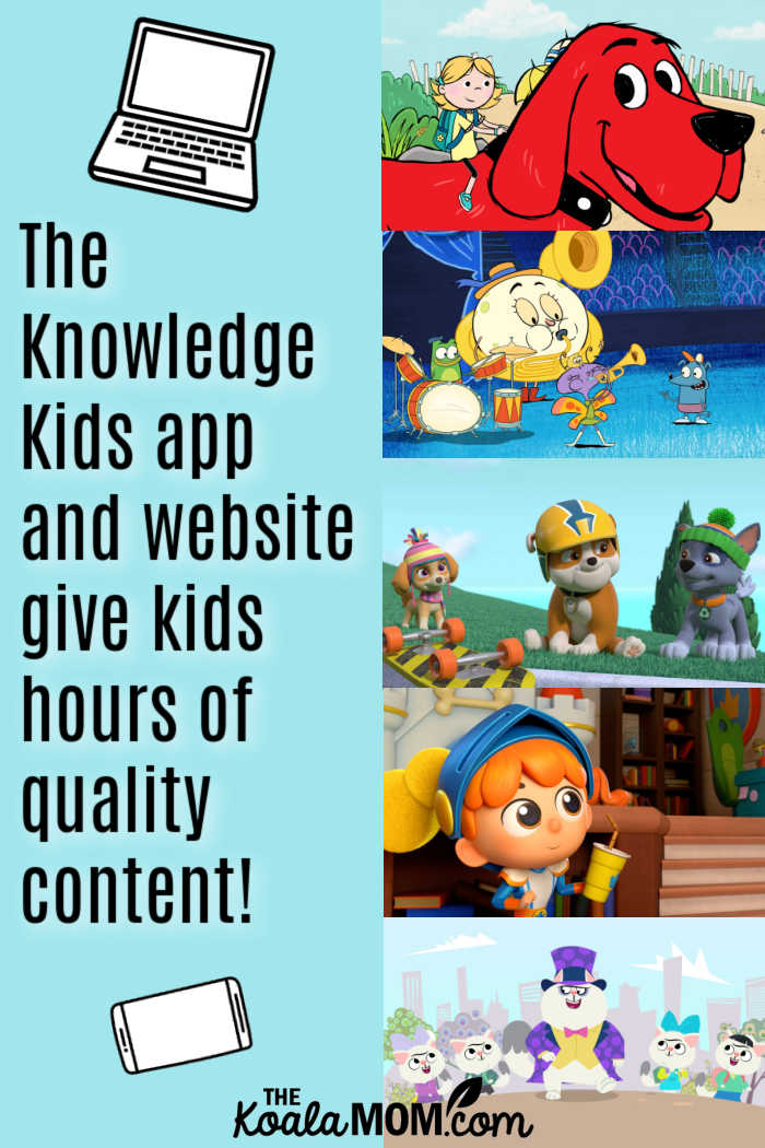 The Knowledge Kids app and website give kids hours of quality content!