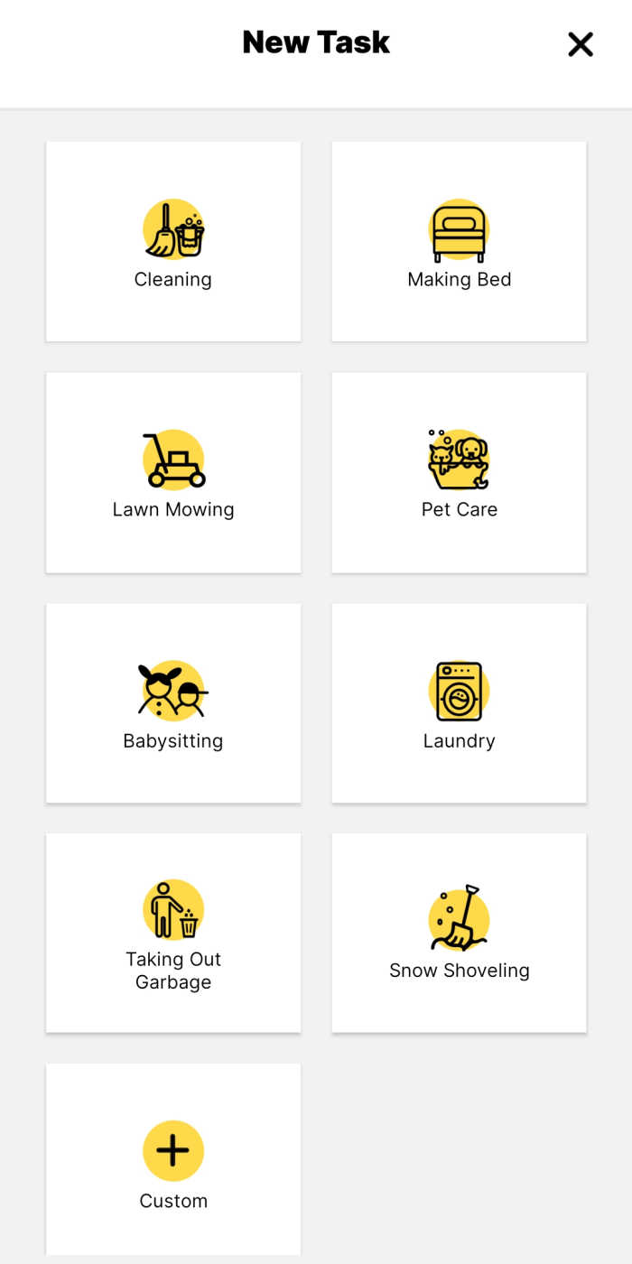 You can assign your child chores to complete to earn money within the MyDoh app.