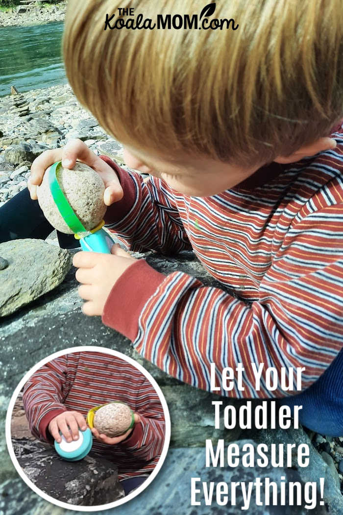 Let your toddler measure everything (including rocks on the beach!) with his very own toddler-friendly measuring tape!